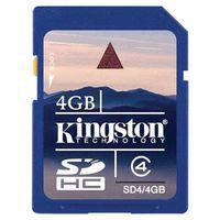 Carte mémoire SD Kingston - 4 Go
