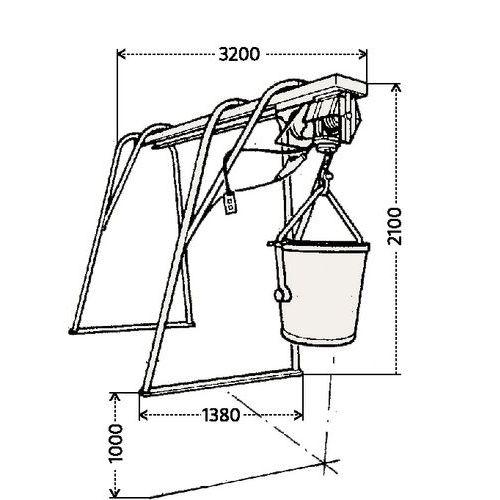 d montable en 4 parties pour un transport ais destin une utilisation avec un treuil lectrique. Black Bedroom Furniture Sets. Home Design Ideas