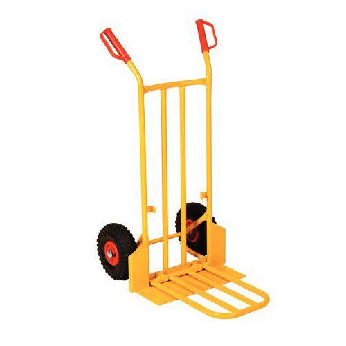 Diable acier - Roues pneumatiques - Force 250 kg