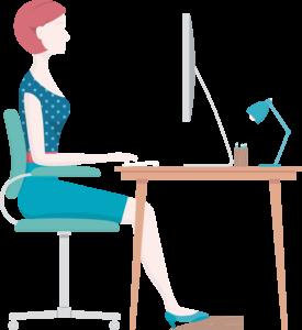 Position optimale bureau