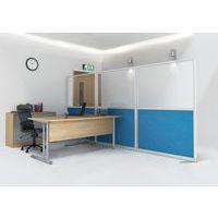 cloison de s paration tendance panneau semi vitr hauteur 15. Black Bedroom Furniture Sets. Home Design Ideas