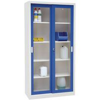 armoire haute monobloc portes coulissantes ch avec vitrine. Black Bedroom Furniture Sets. Home Design Ideas