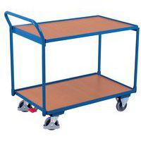 Chariot ergonomique 2 plateaux bois