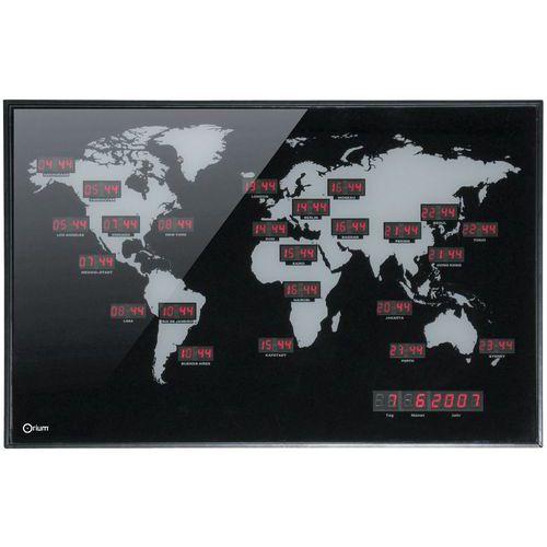 Horloge mondiale LED