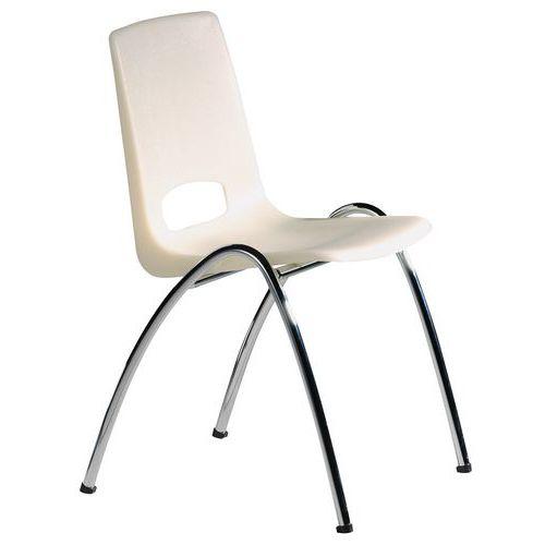 Chaise coque transparente - Jaune tendre