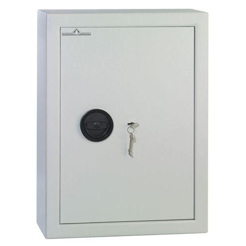 armoire cl s haute s curit grise fermeture cl manutan f. Black Bedroom Furniture Sets. Home Design Ideas