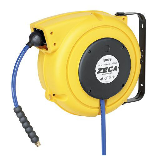 Enrouleur air comprim et eau zeca plastique 10 m manutan - Enrouleur tuyau air comprime ...