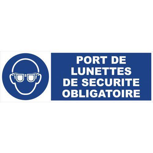 panneau d obligation port de lunettes de s 233 curit 233 obligatoire