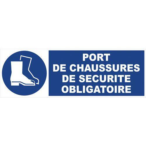 Panneau d 39 obligation port de chaussures de s curit - Port du gilet de sauvetage obligatoire ...