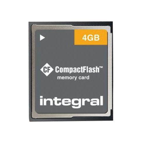 Carte mémoire compact Flash Intégral - 4 Go