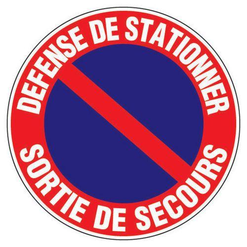 Panneau d'interdiction - Défense de stationner sortie de ...