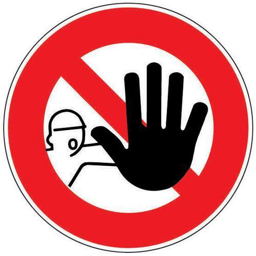 panneau d 39 interdiction acc s interdit aux personnes non autori. Black Bedroom Furniture Sets. Home Design Ideas