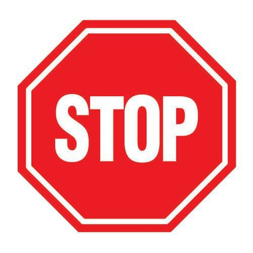Panneau d 39 interdiction stop rigide - Prix d un panneau stop ...