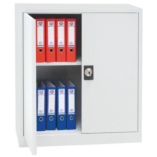 Armoire portes battantes armoire basse manutan for Bureau qui ferme