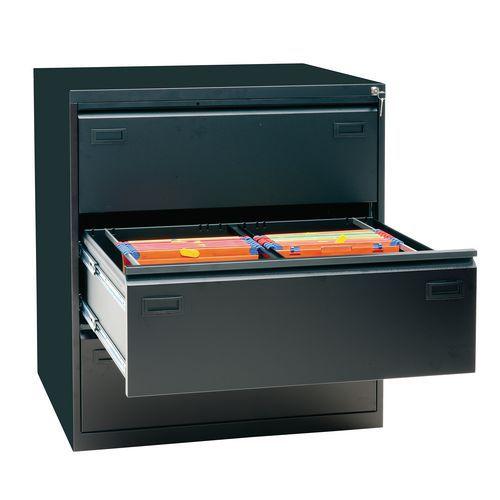 Classeur à tiroirs avec double largeur de tiroir