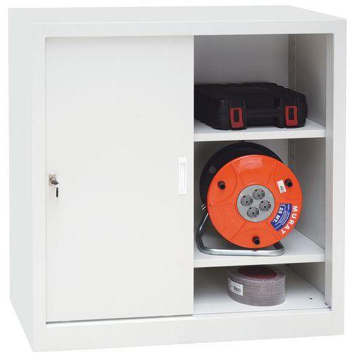 armoires basses portes coulissantes ch largeur 100 cm manutan. Black Bedroom Furniture Sets. Home Design Ideas