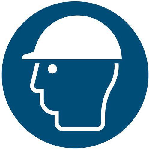 Panneau d'obligation - Port d'un casque de sécurité obligatoire - Rigide