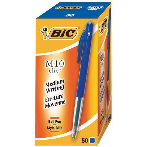 Stylo bille rétractable BIC M10 - Boîte