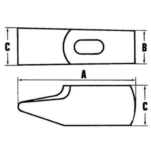 MOB Outillage 0001280201 Marteau rivoir de m/écanicien 28 EF