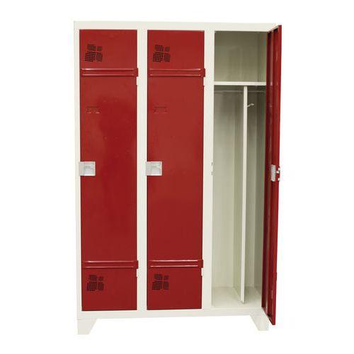 Vestiaire 1 à 3 colonnes Premium - Colonne largeur 400 mm - Sur pieds