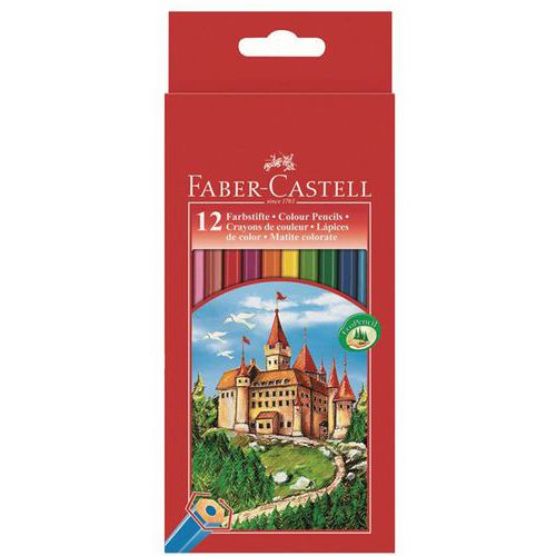 Etui 12 crayons de couleur FABER CASTELL