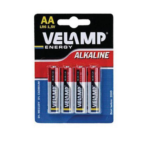 Pile alcaline - Éco - AA/LR6 - Velamp