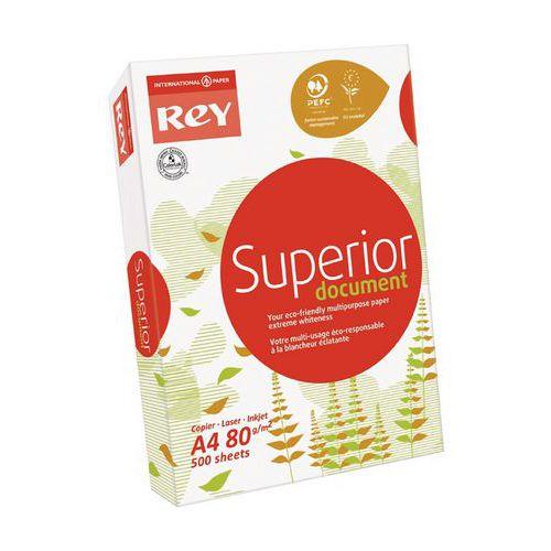 Papier Rey A4 80 g Blanc Superior - Ramette de 500 feuilles