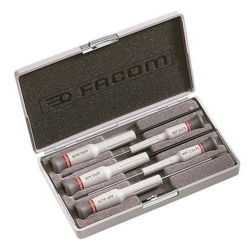 Coffret de 5 tournevis Micro-Tech® Fente - Pozidriv®