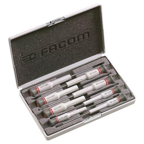 Coffret de 8 tournevis Micro-Tech® Fente - Phillips® - Pozidriv®