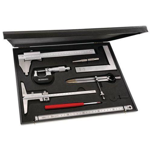 Coffret métrologie-contrôle 8 outils