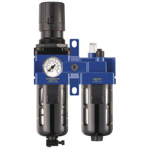 Filtre régulateur - lubrificateur 1/2 gaz BSP
