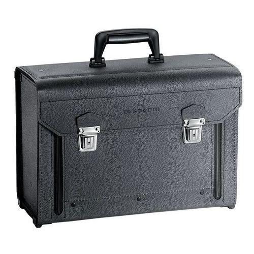 Valise cuir à façade rabattable