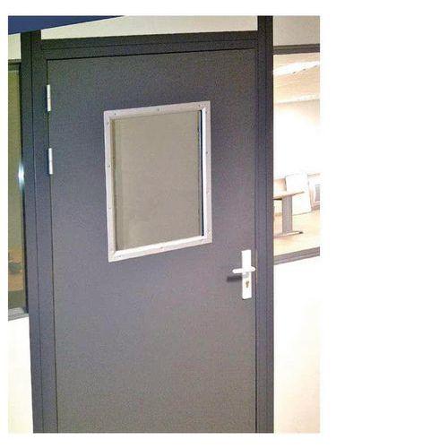 porte battante pour cloisons d 39 atelier avec panneau semi vitr manutan france. Black Bedroom Furniture Sets. Home Design Ideas