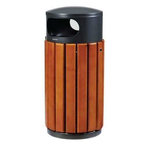 Poubelle en métal et en bois - 40 L