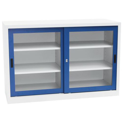 armoires basses portes coulissantes ch avec vitrine. Black Bedroom Furniture Sets. Home Design Ideas