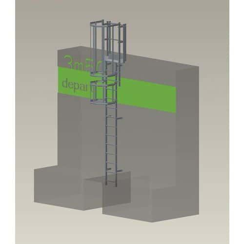 Kit complet échelle à crinoline - Hauteur 3,50 m