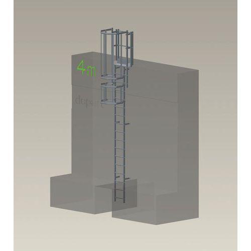 Kit complet échelle à crinoline - Hauteur 4,50 m