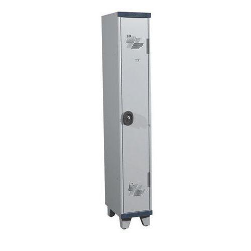 Vestiaire 1 colonne Seamline Optimum® - Colonne largeur 300 mm - Sur pieds - Acial