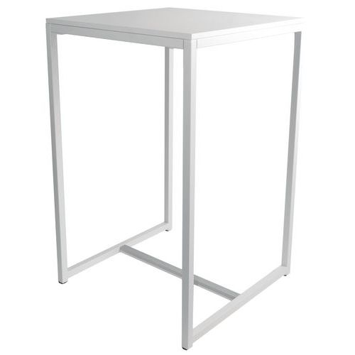 Table blanche - Table haute rectangulaire ...