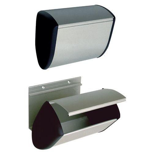 poubelle murale en aluminium hermeta. Black Bedroom Furniture Sets. Home Design Ideas