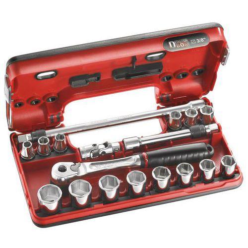 Coffret 3/8 Detection Box métriques - 6 pans