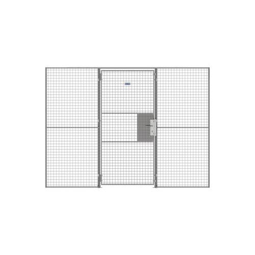 Porte battante pour cloison grillagée UX 450 - Avec serrure à clé