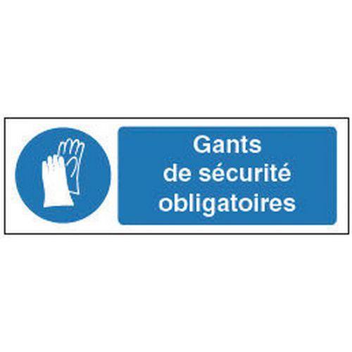Panneau d'obligation - Port de gants de protection obligatoire - Rigide