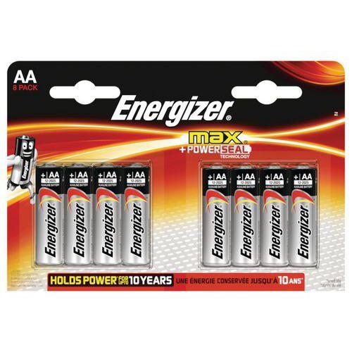 Pile alcaline MAX - AA/LR06 - Lot de 8 - Energizer