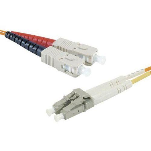 Cordon fibre optique duplex - OM2 - SC/LC