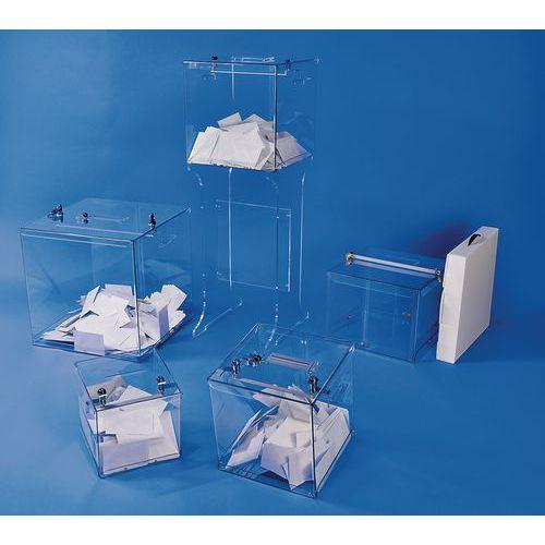 Urne électorale transparente - 2000 bulletins