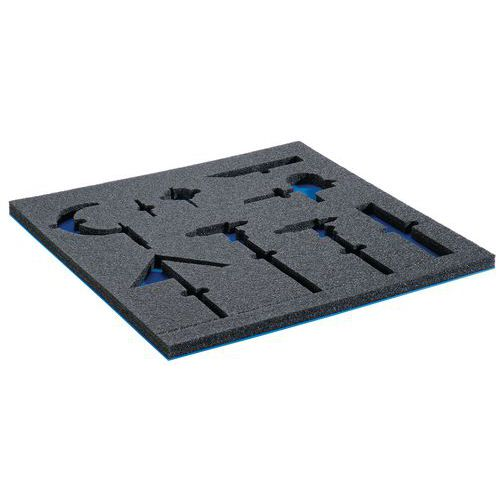 Insertion en mousse et tapis - Pour tiroirs 71 cm