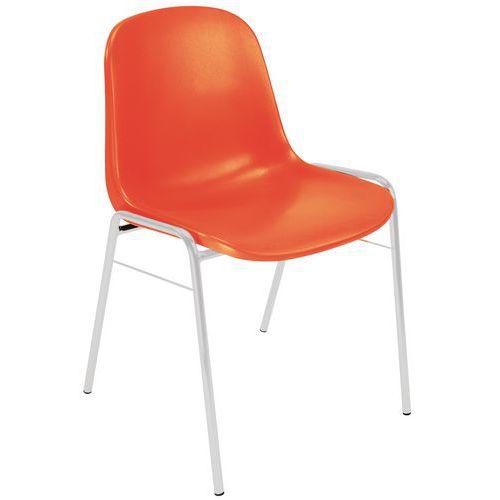 Chaise Coque - Piétement Aluminium - Manutan