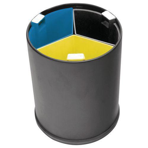 poubelle de bureau 3 flux bacs color s 13 l. Black Bedroom Furniture Sets. Home Design Ideas