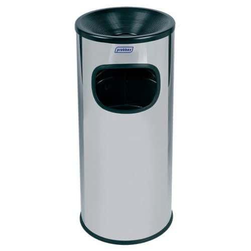 Cendrier et poubelle - Inox - 30 L